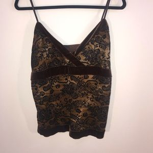 Studio Y Floral Velour Tank Top